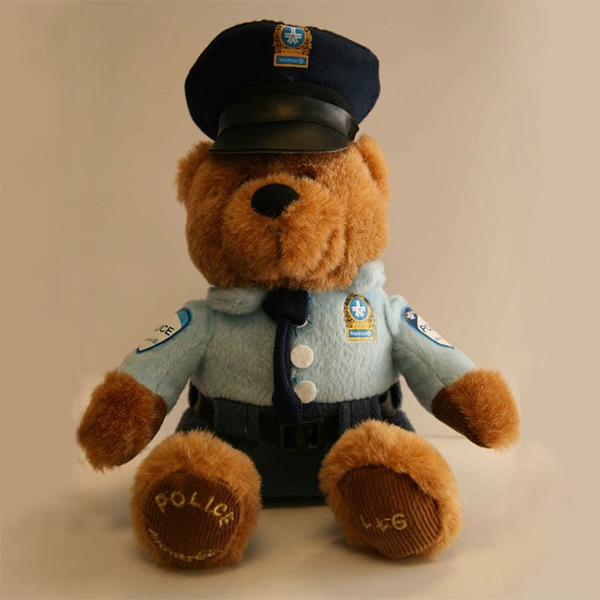 plush police teddy bear