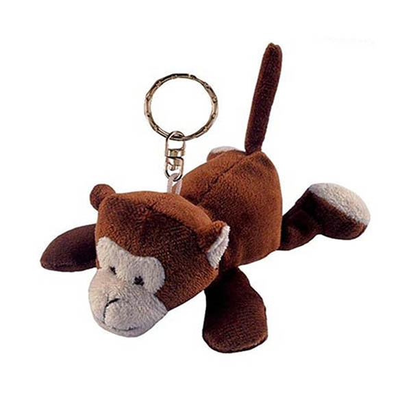 Soft Plush Monkey Keychain...