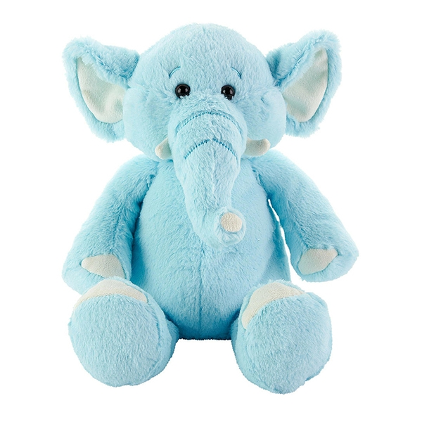 Plush Blue Stuffed Elephan...