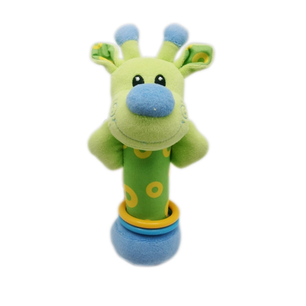 Giraffe Rattle Squeaker Toy