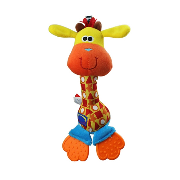 Plush Rattle Teethers Toy Giraffe