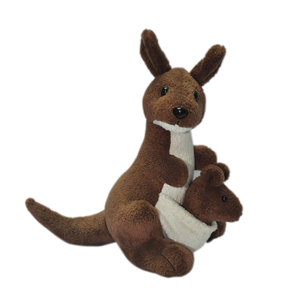 Plush Kangaroo With Removable Baby
