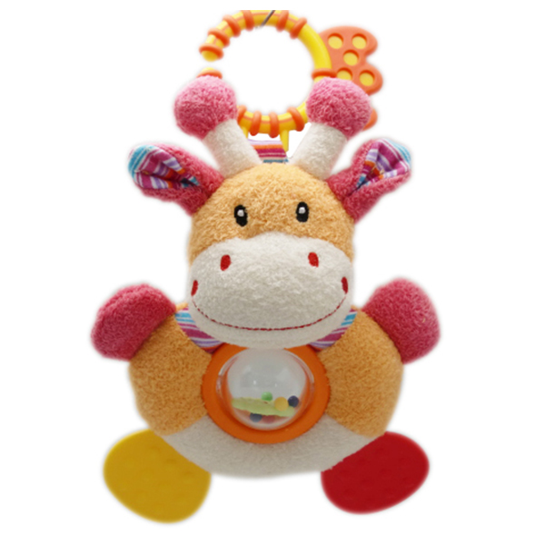hippo spinning rattle teether