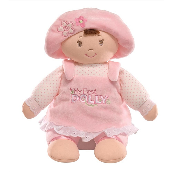 Cute Pink Hat Girl Plush Doll