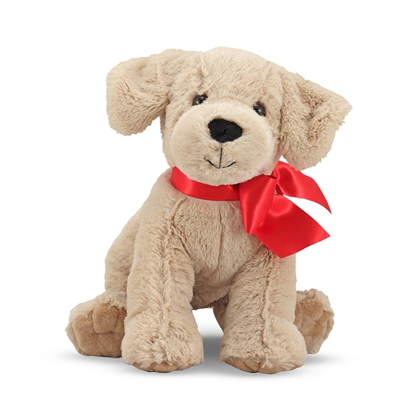 Plush Dog Toys With Red Ribbon