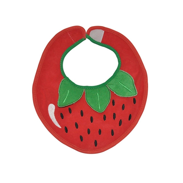 Strawberry Shaped Baby Bibs