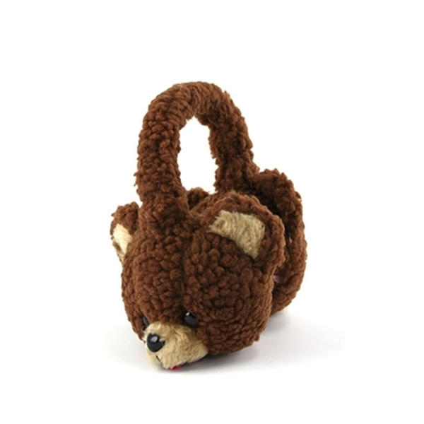 Brown Bear Plush Earmuffs